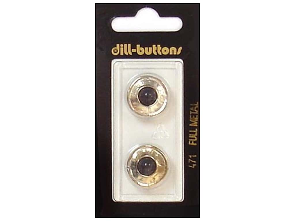 Dill Shank Buttons 11/16 in. Black/Silver Metal #471 2 pc.
