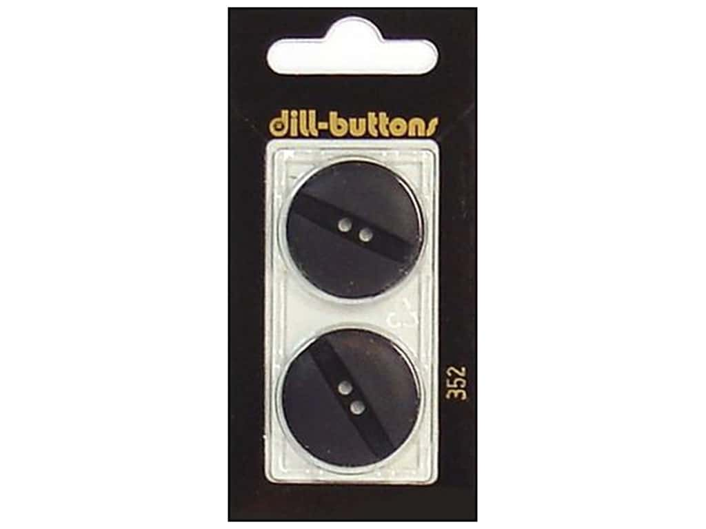 Dill 2 Hole Buttons 1 in. Black #352 2 pc.