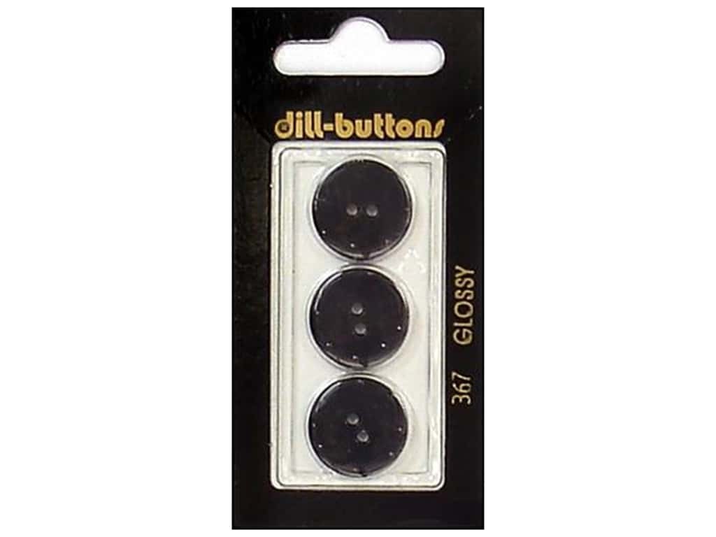 Dill 2 Hole Buttons 11/16 in. Black #367 3 pc.