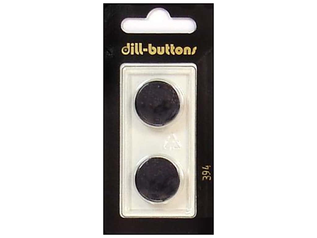 Dill Shank Buttons 11/16 in. Black #394 2 pc.