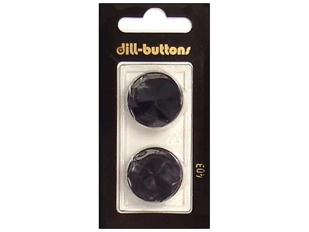 Dill Shank Buttons 7/8 in. Black #403 2 pc.