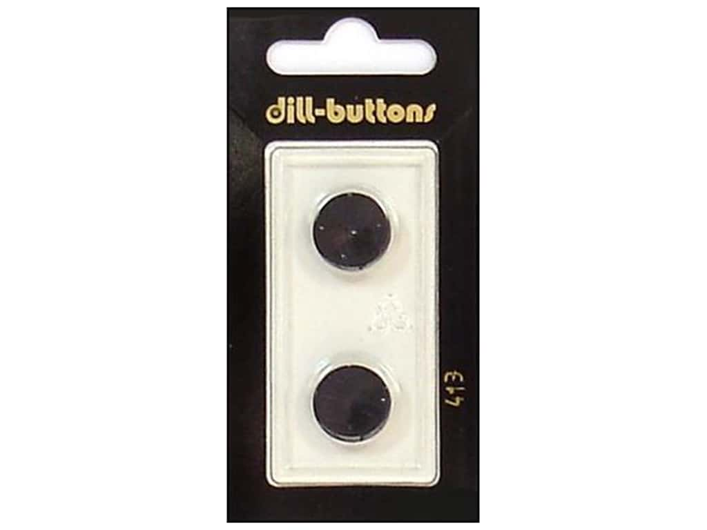 Dill Shank Buttons 9/16 in. Black #413 2 pc.