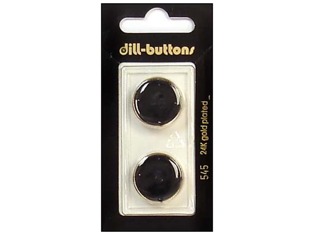 Dill Shank Buttons 13/16 in. Enamel Black/Gold #545 2 pc.