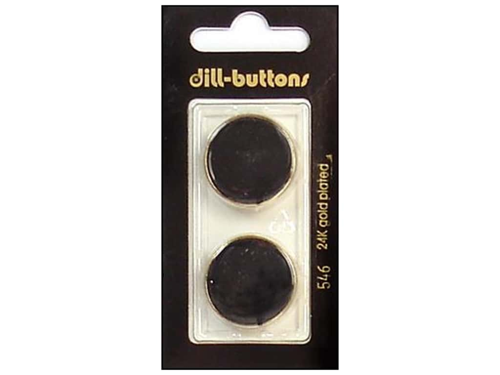 Dill Shank Buttons 7/8 in. Enameled Black #546 2 pc.
