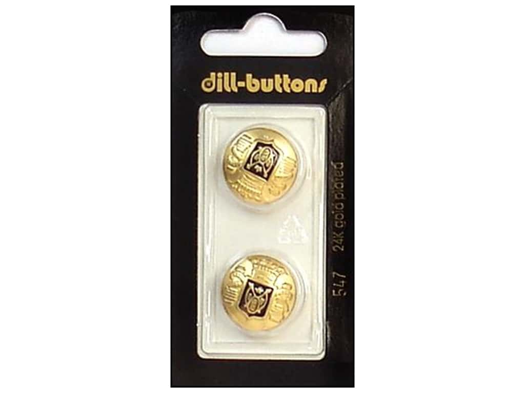 Dill Shank Buttons 11/16 in. Enamel Black/Gold #547 2 pc.