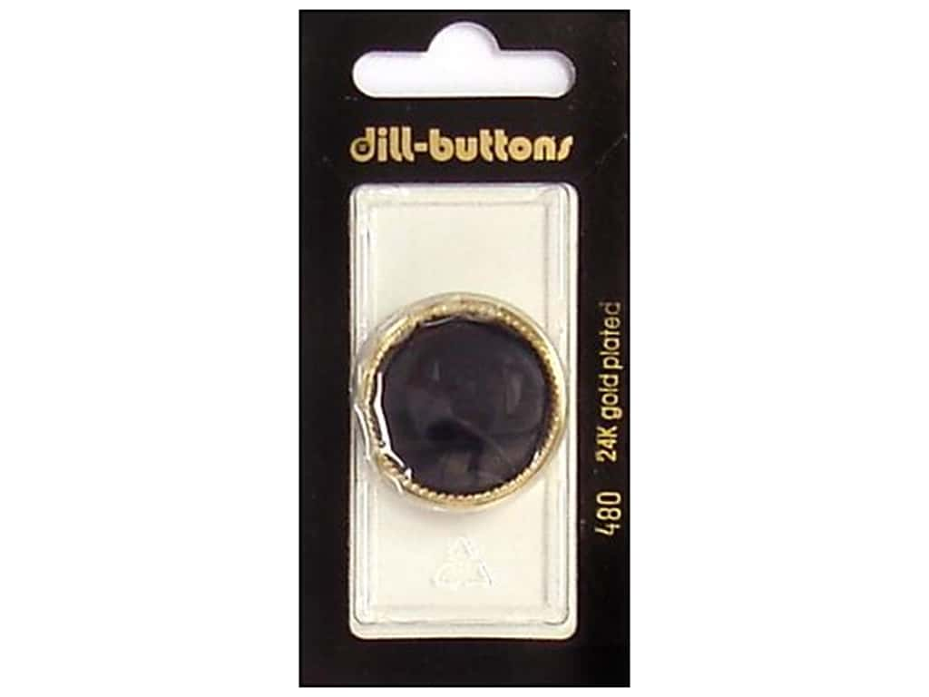 Dill Shank Buttons 1 1/8 in. Black/Gold #480 1 pc.