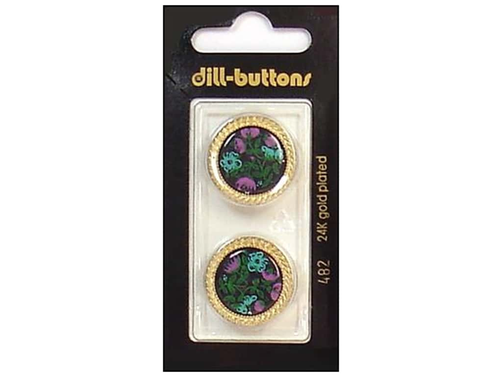 Dill Shank Buttons 7/8 in. Gold/Black #482 2 pc.