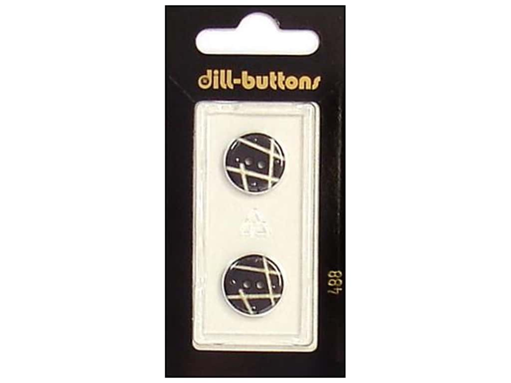 Dill 2 Hole Buttons 5/8 in. Black #488 2 pc.