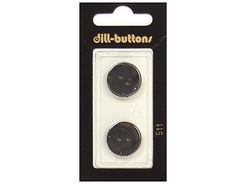 Dill 2 Hole Buttons 11/16 in. Black #511 2 pc.
