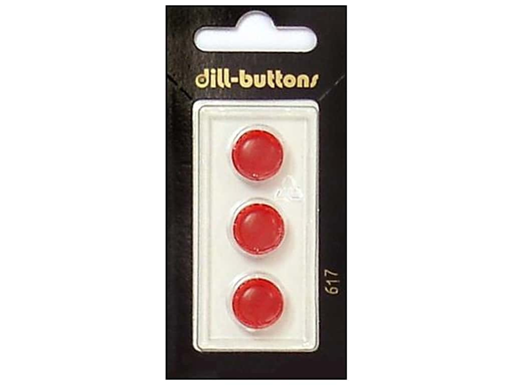 Dill Shank Buttons 1/2 in. Red #617 3 pc.