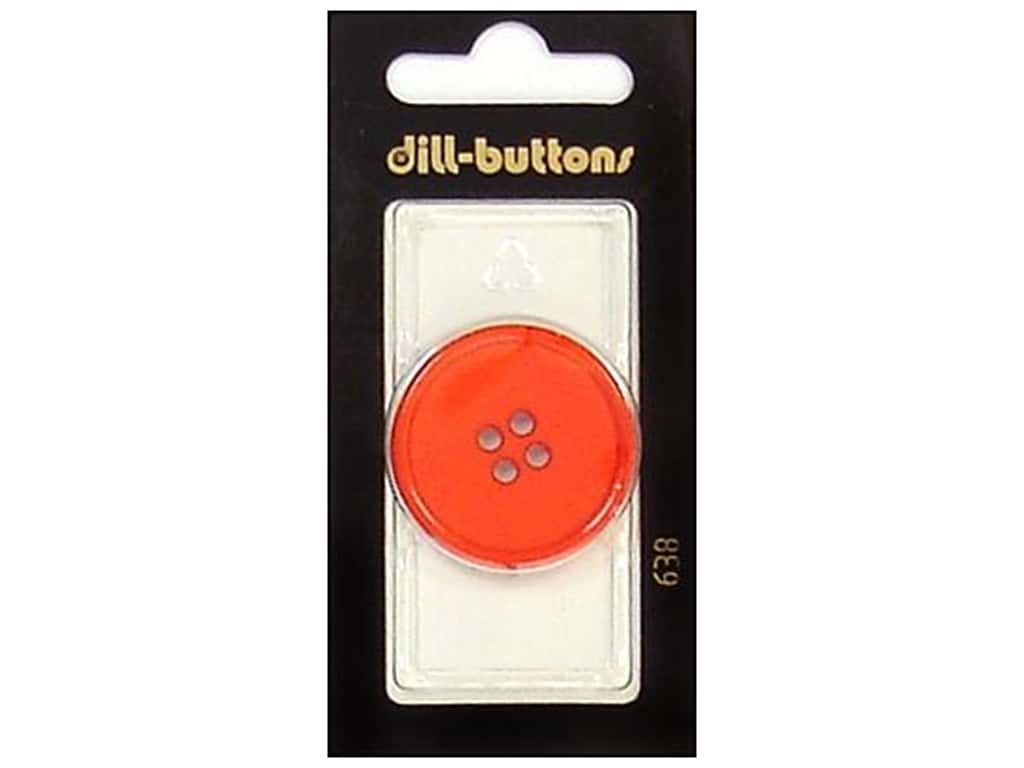 Dill 4 Hole Buttons 1 1/4 in. Red #638 1 pc.