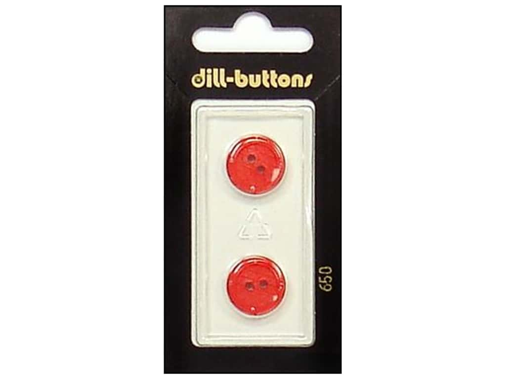 Dill 2 Hole Buttons 5/8 in. Red #650 2 pc.