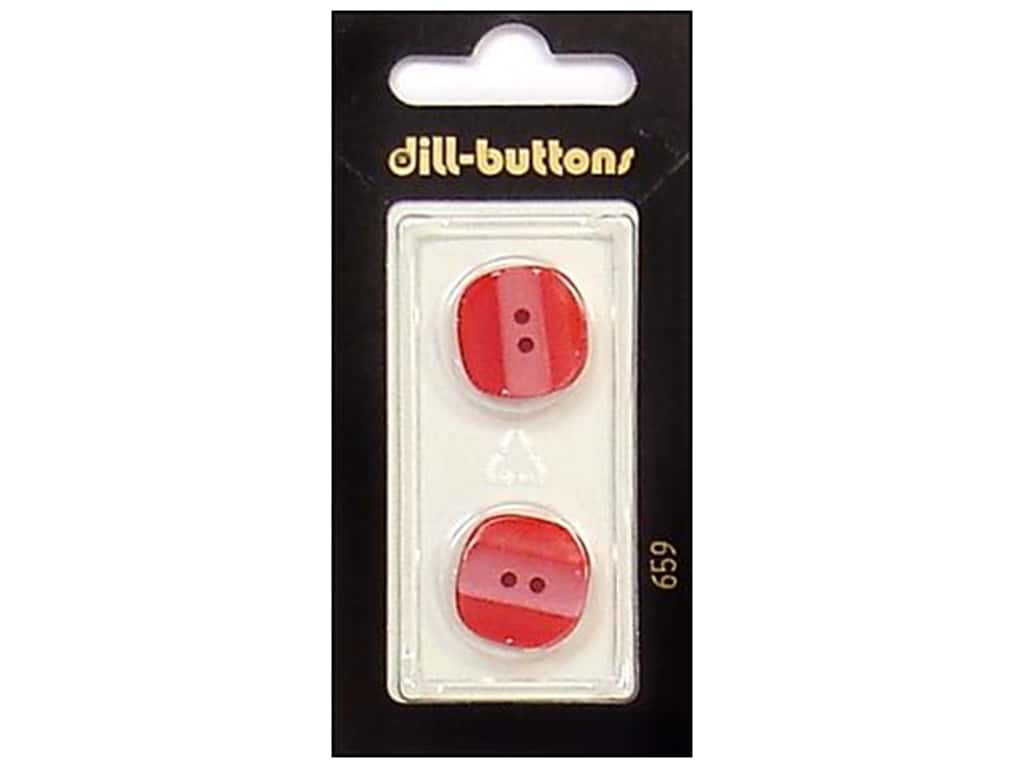 Dill 2 Hole Buttons 11/16 in. Red #659 2 pc.
