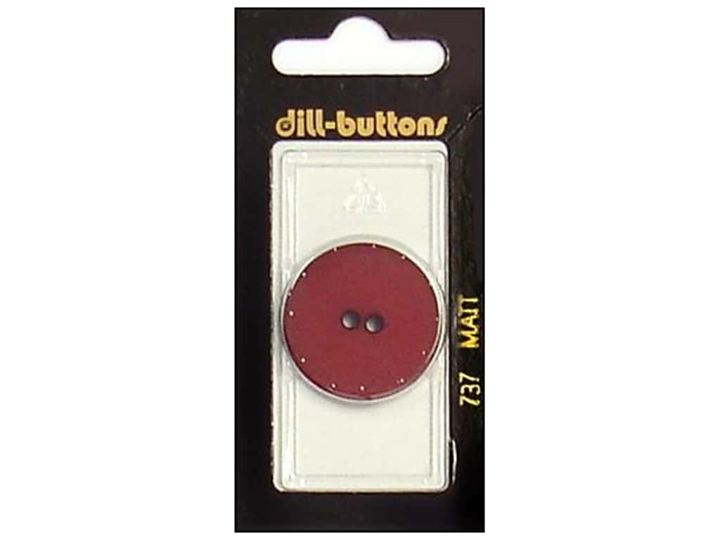 Dill 2 Hole Buttons 1 1/8 in. Wine Red #737 1 pc.