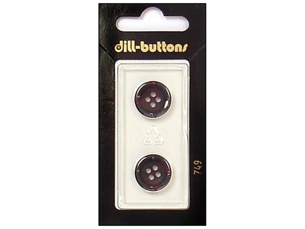 Dill 4 Hole Buttons 5/8 in. Wine #749 2 pc.