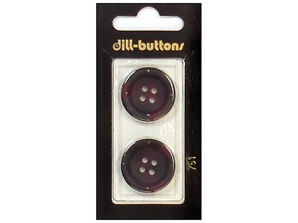Dill 4 Hole Buttons 7/8 in. Wine #751 2 pc.