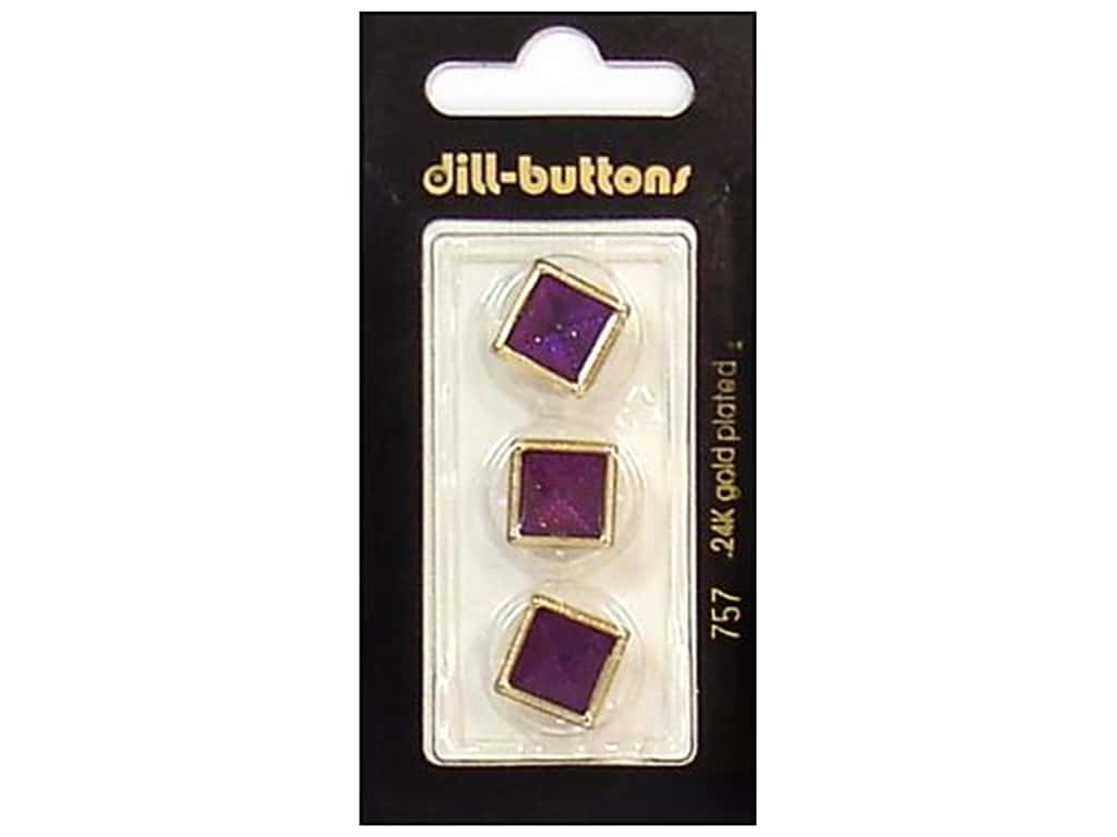 Dill Shank Buttons 5/8 in. Enamel Wine Red/Gold #757 3 pc.
