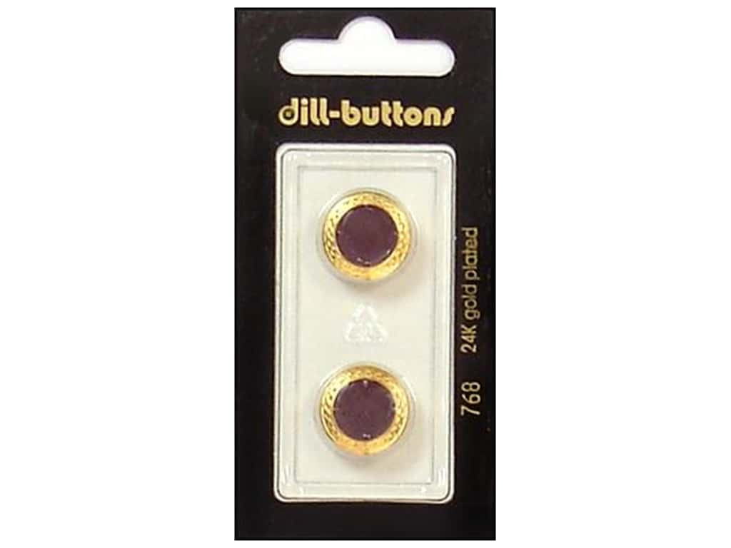 Dill Shank Buttons 5/8 in. Enamel Wine Red #768 2 pc.