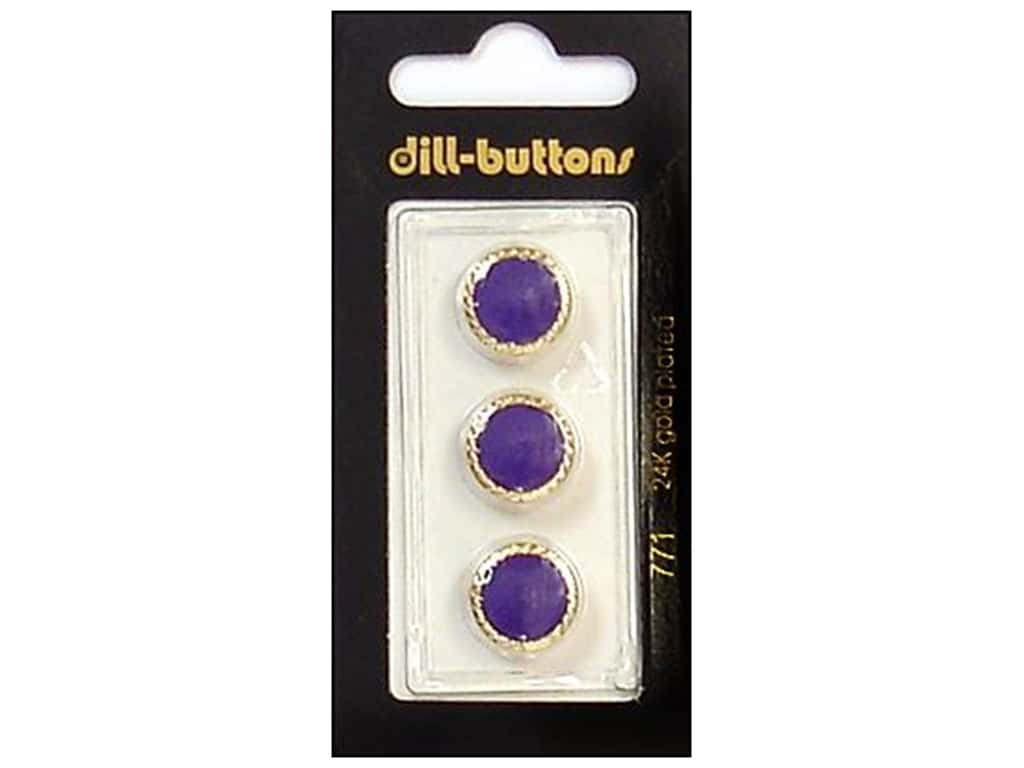 Dill Shank Buttons 1/2 in. Purple/Gold #771 3 pc.