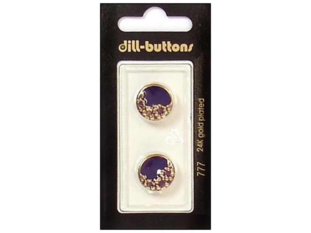 Dill Shank Buttons 5/8 in. Enamel Purple/Gold #777 2 pc.