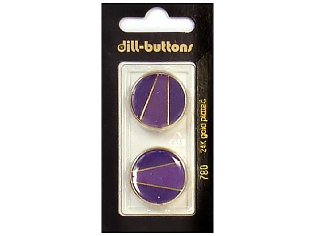 Dill Shank Buttons 7/8 in. Enamel Purple/Gold #780 2 pc.