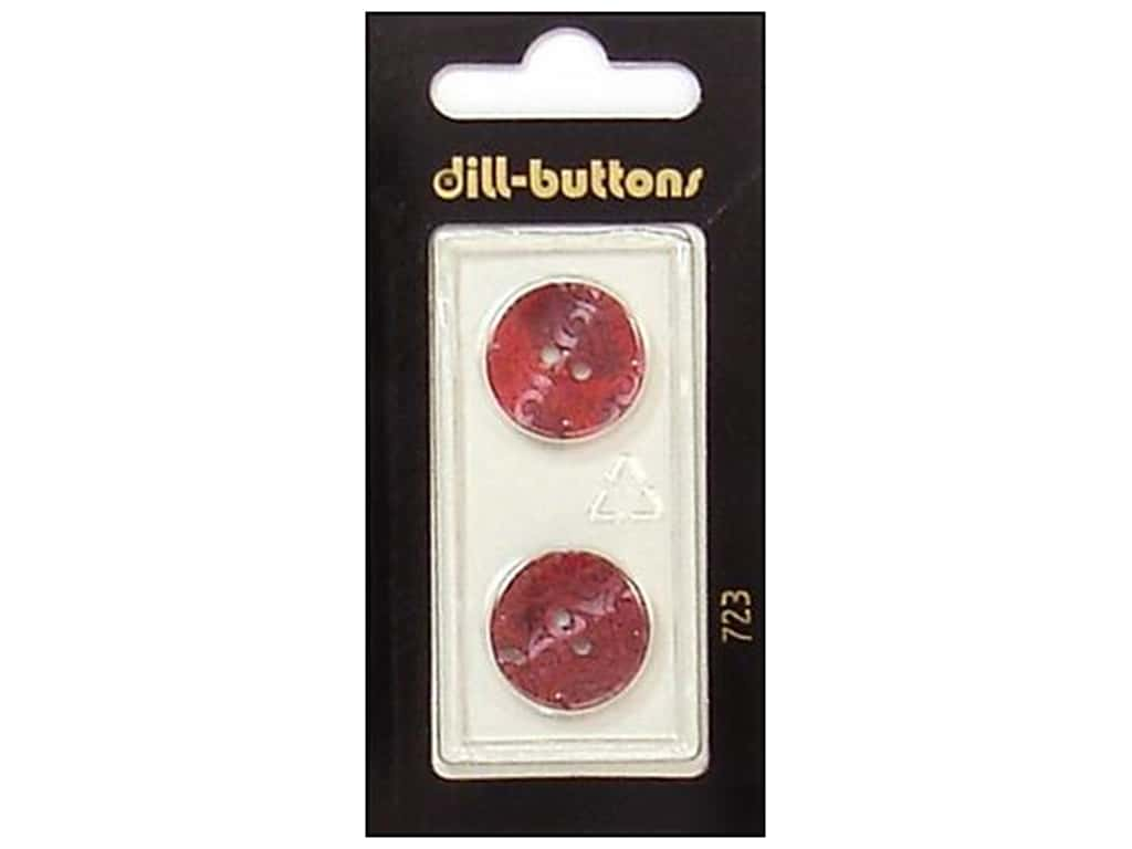 Dill 2 Hole Buttons 11/16 in. Wine Red #723 2 pc.