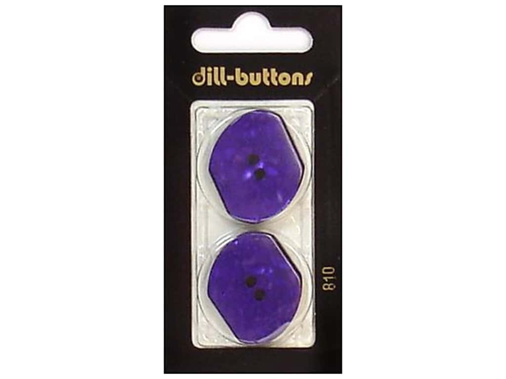 Dill 2 Hole Buttons 1 1/8 in. Purple #810 2 pc.