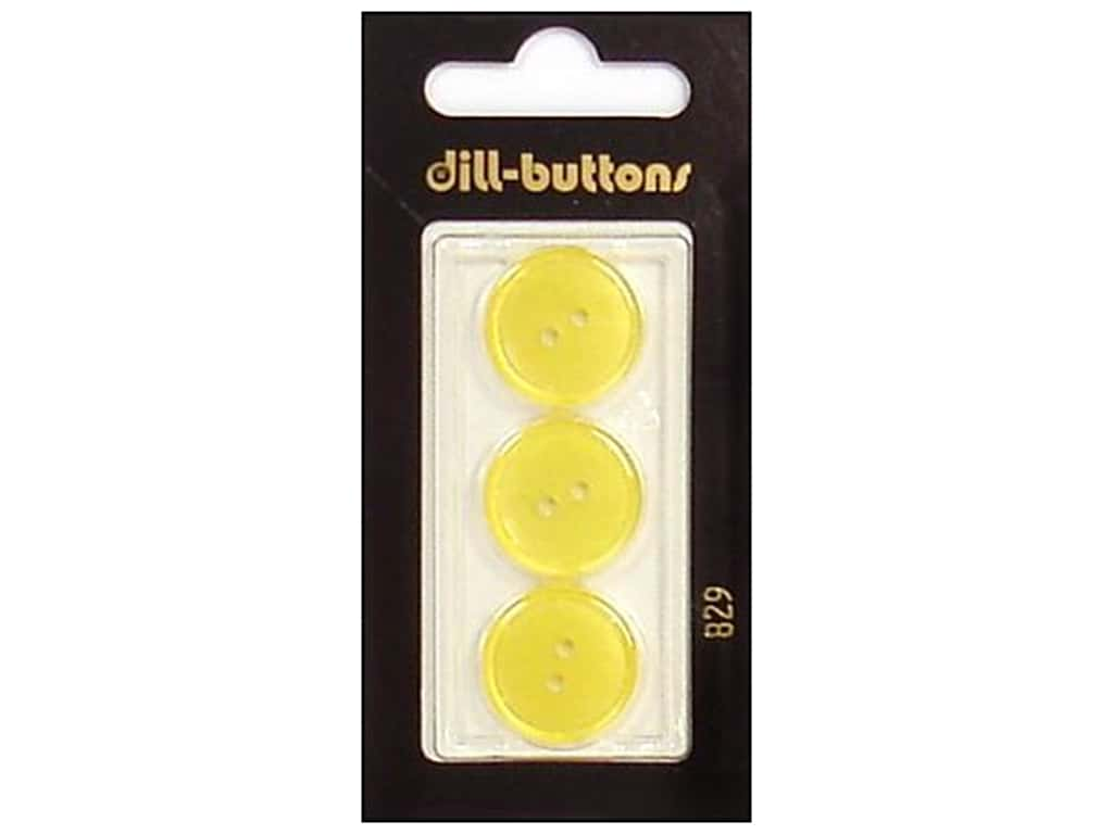Dill 2 Hole Buttons 11/16 in. Yellow #829 3 pc.