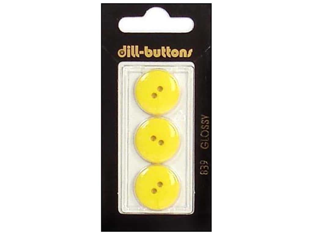 Dill 2 Hole Buttons 11/16 in. Yellow #839 3 pc.