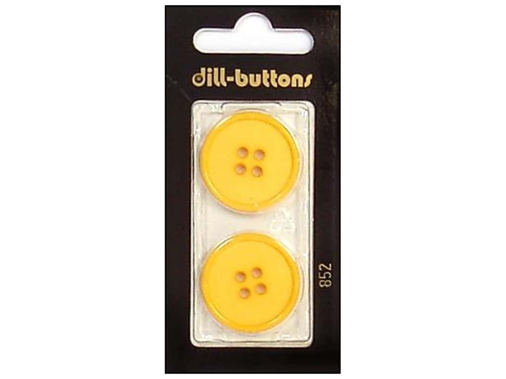 Dill 4 Hole Buttons 1 in. Yellow #852 2 pc.