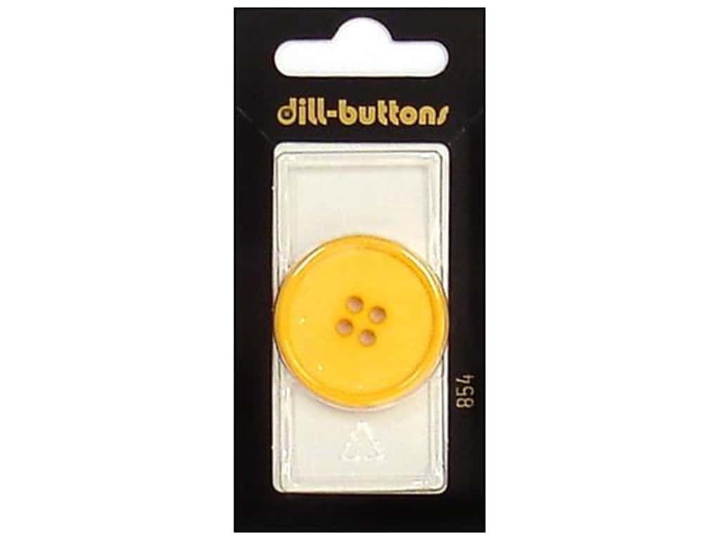 Dill 4 Hole Buttons 1 1/4 in. Yellow #854 1 pc.