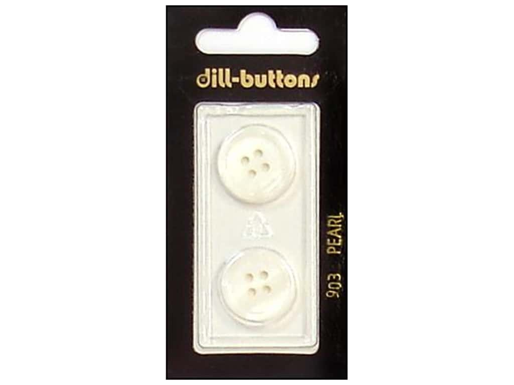 Dill 4 Hole Buttons 11/16 in. Pearlized White #903 2 pc.