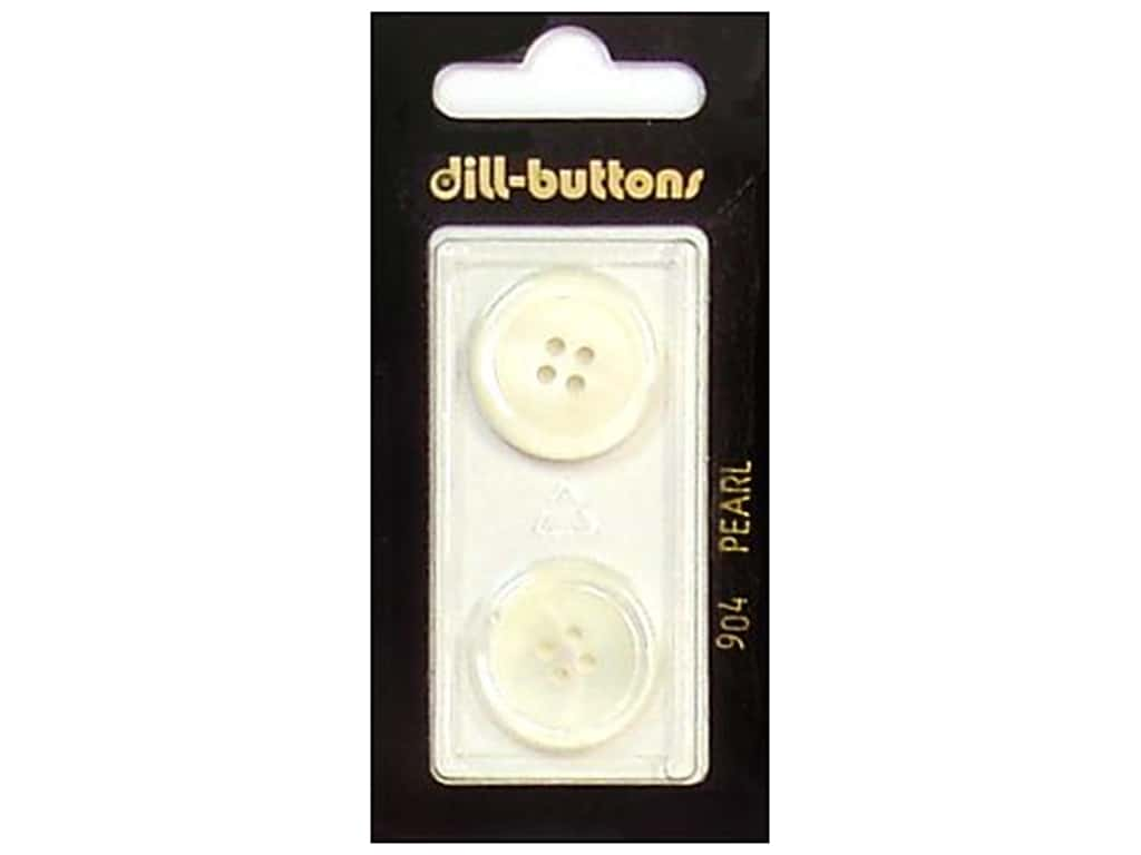 Dill 4 Hole Buttons 13/16 in. Pearlized White #904 2 pc.