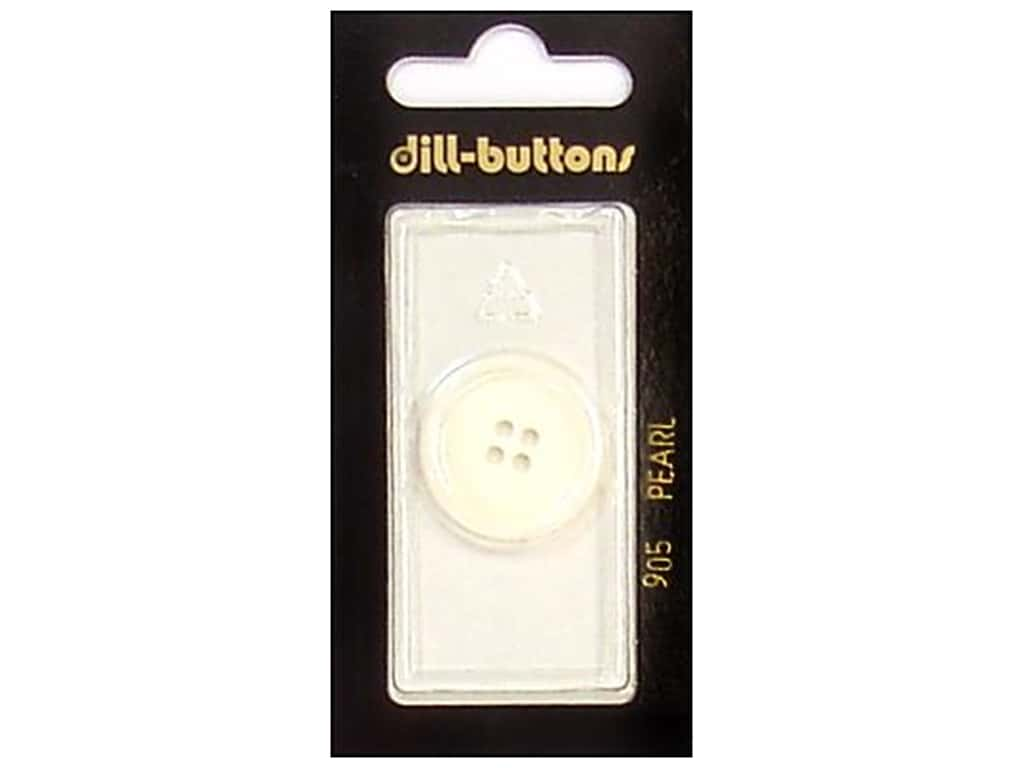 Dill 4 Hole Buttons 7/8 in. Pearlized White #905 1 pc.