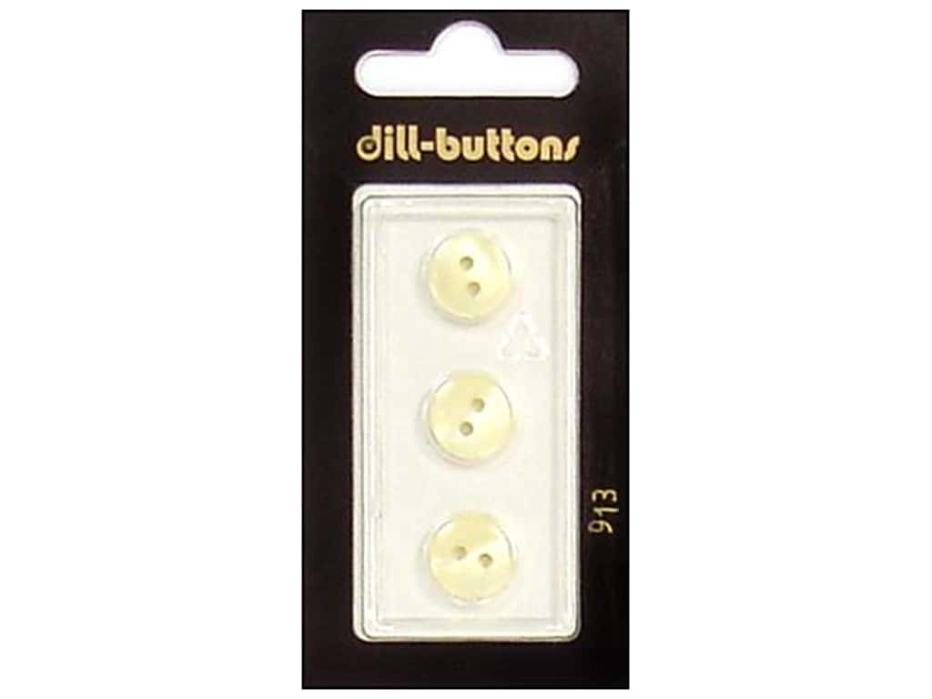 Dill 2 Hole Buttons 7/16 in. Ivory #913 3 pc.