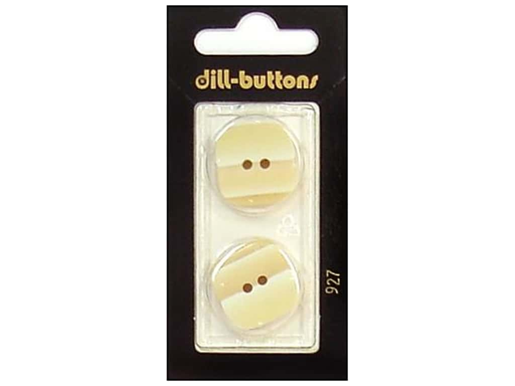 Dill 2 Hole Buttons 7/8 in. Beige #927 2 pc.