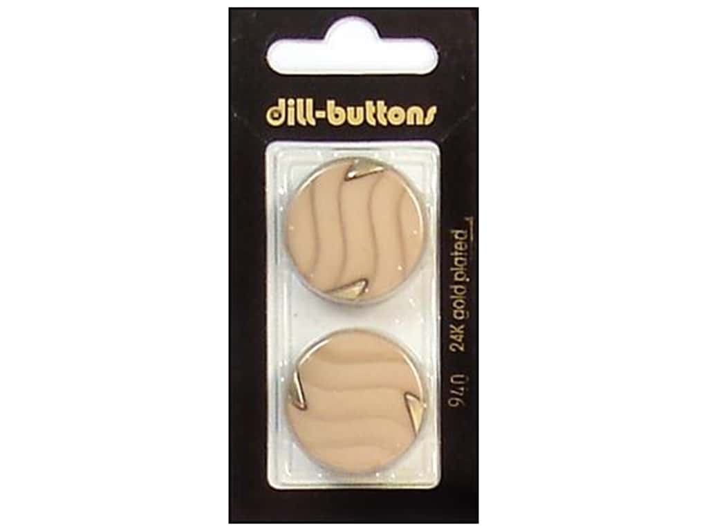 Dill Shank Buttons 1 in. Beige/Gold #940 2 pc.