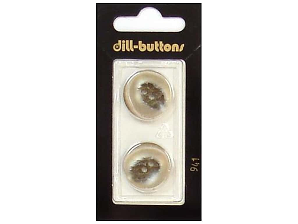 Dill 2 Hole Buttons 13/16 in. Beige #941 2 pc.
