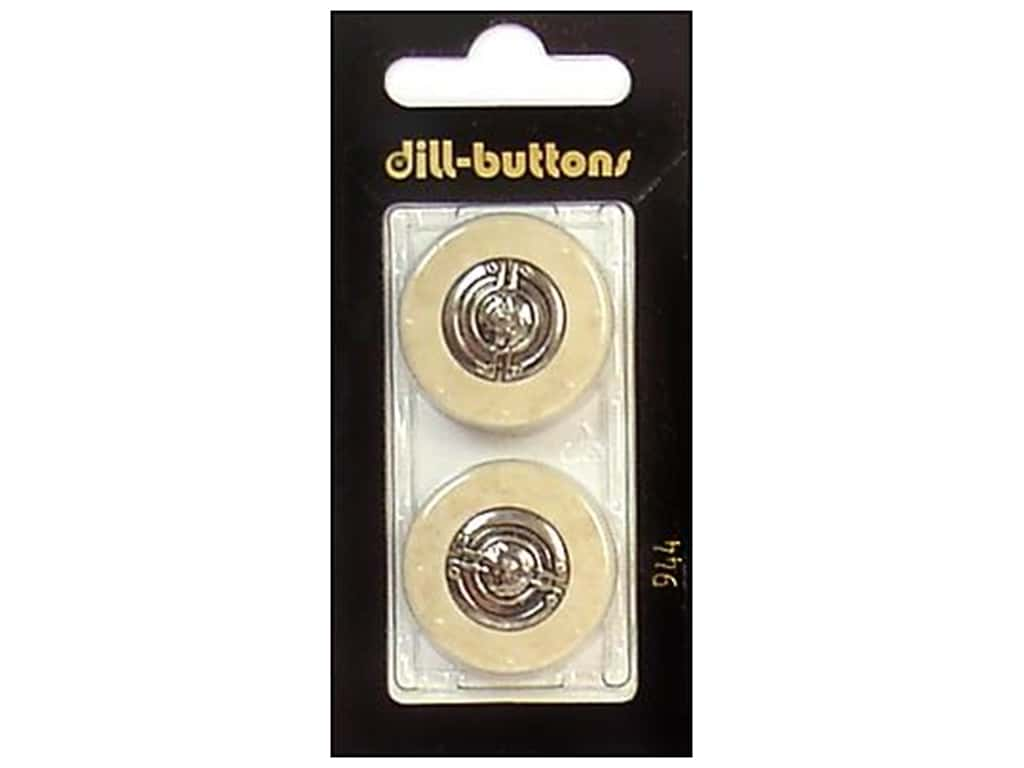 Dill Shank Buttons 1 in. Beige/Silver #944 2 pc.