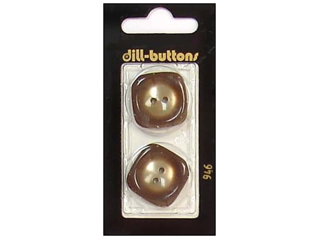 Dill 2 Hole Buttons 1 in. Beige #946 2 pc.