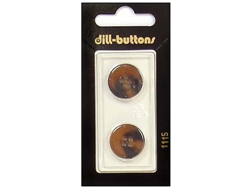 Dill 4 Hole Buttons 11/16 in. Brown #1115 2 pc.