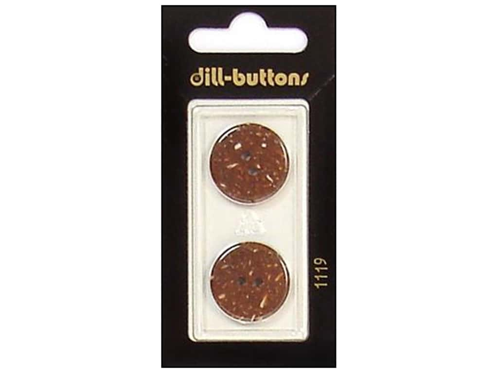 Dill 2 Hole Buttons 13/16 in. Brown #1119 2 pc.