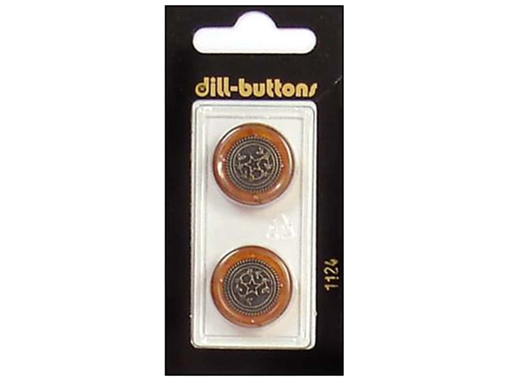 Dill Shank Buttons 13/16 in. Brown/Antique Gold #1124 2 pc.
