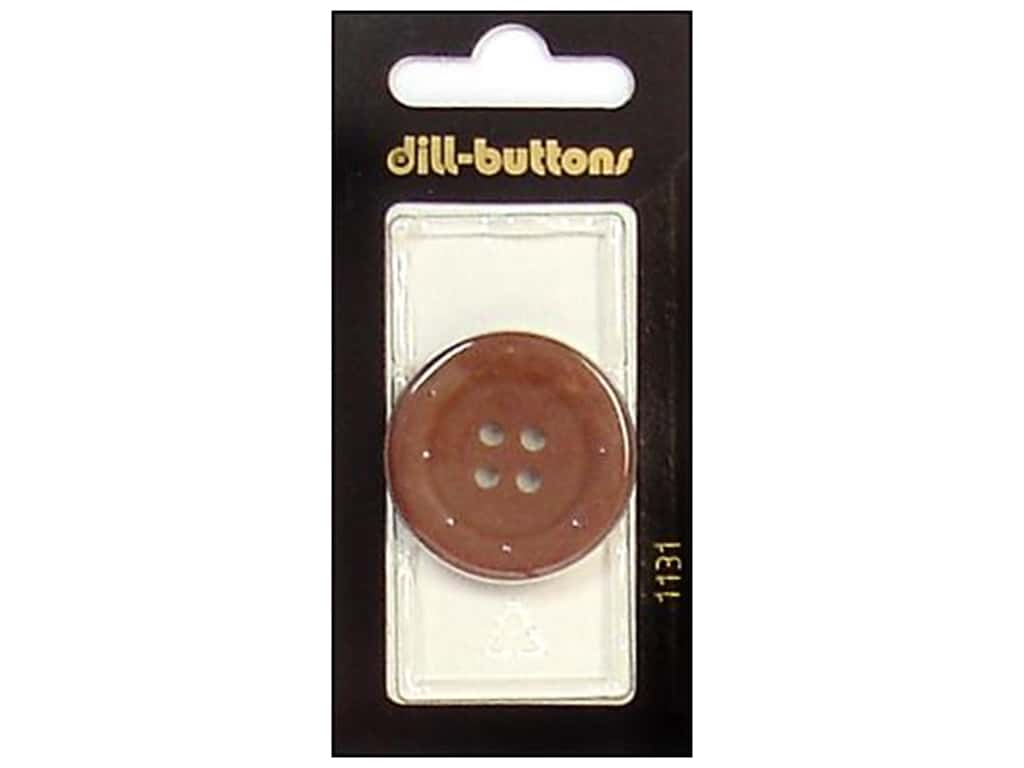 Dill 4 Hole Buttons 1 1/4 in. Brown #1131 1 pc.