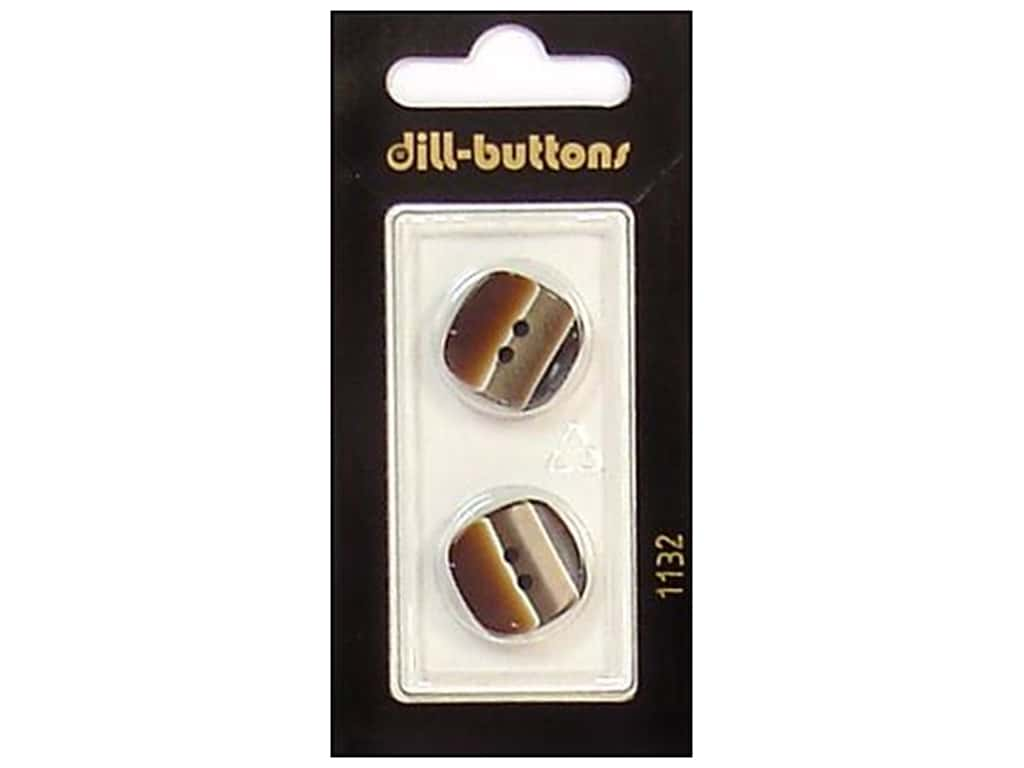 Dill 2 Hole Buttons 11/16 in. Brown #1132 2 pc.