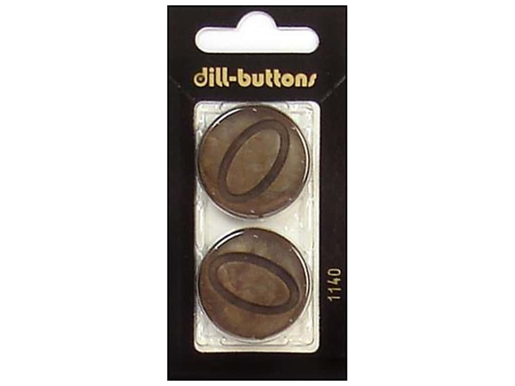 Dill Shank Buttons 1 1/8 in. Brown #1140 2 pc.