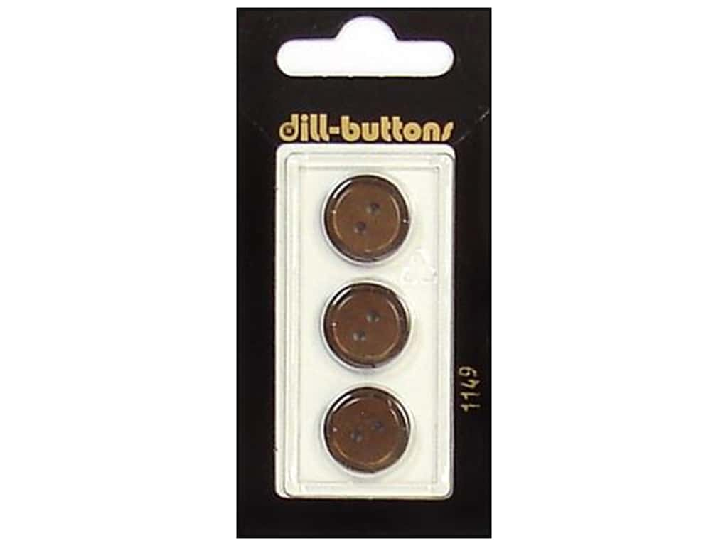 Dill 2 Hole Buttons 5/8 in. Brown #1149 3 pc.
