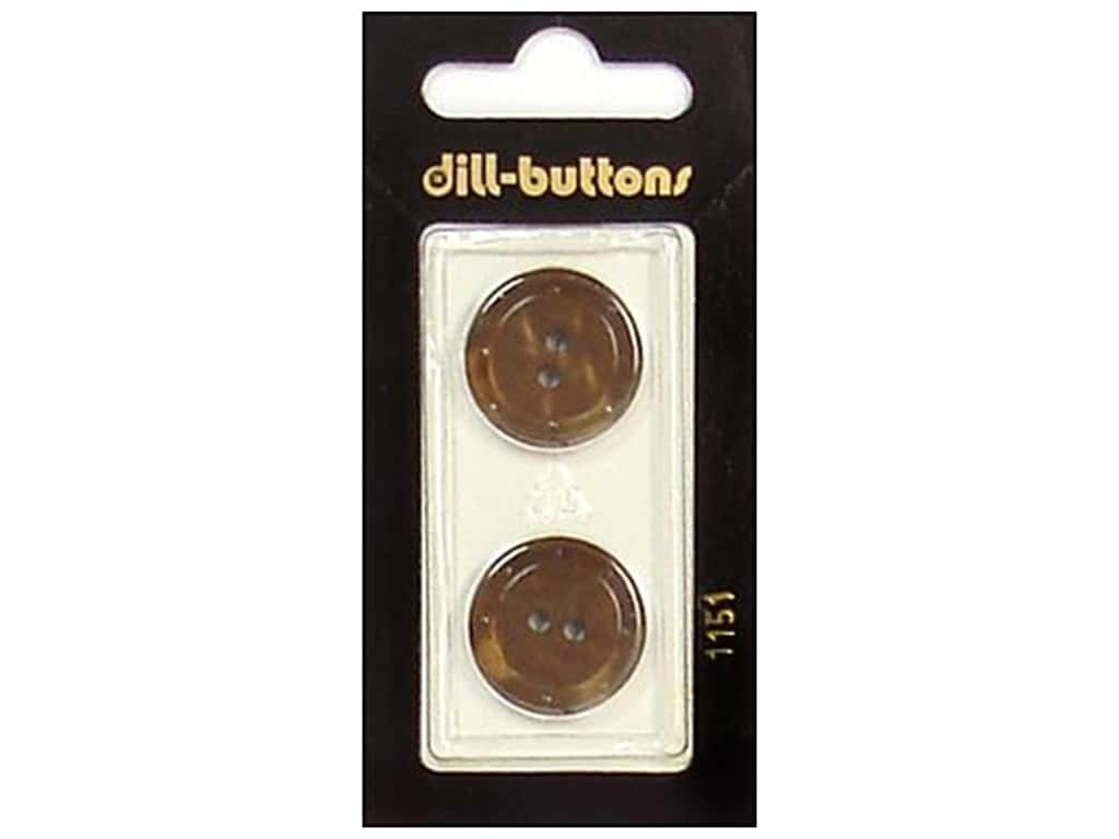 Dill 2 Hole Buttons 13/16 in. Brown #1151 2 pc.