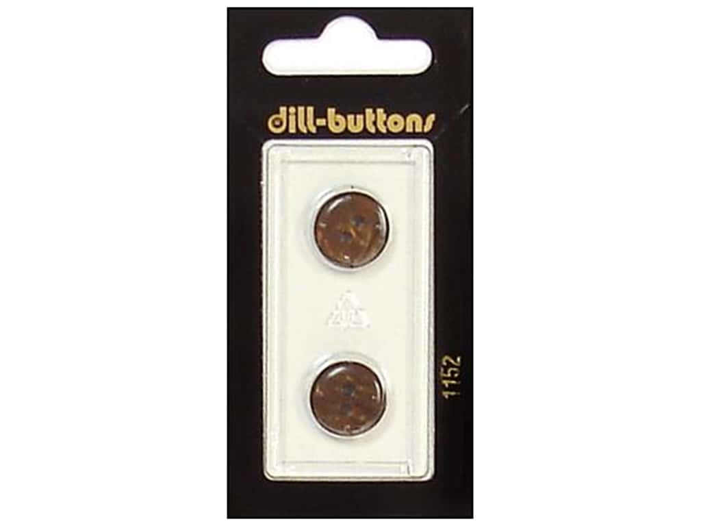 Dill 2 Hole Buttons 9/16 in. Brown #1152 2 pc.