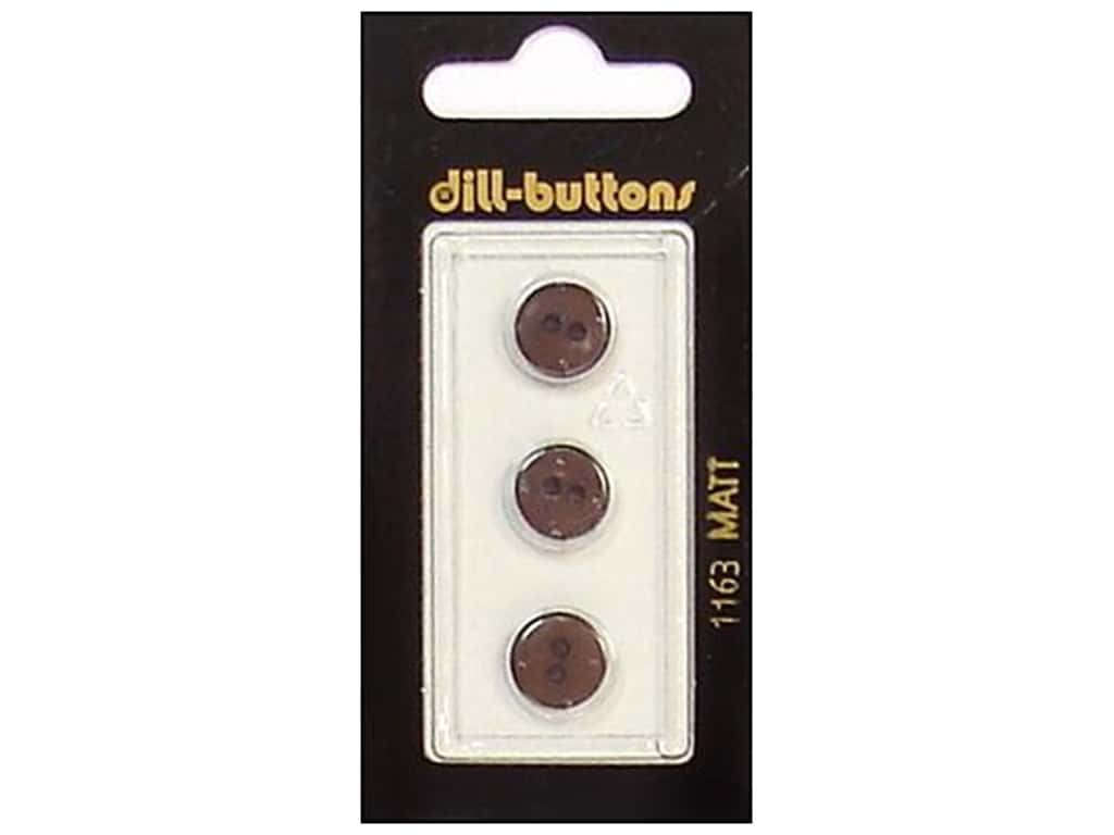 Dill 2 Hole Buttons 7/16 in. Brown #1163 3 pc.